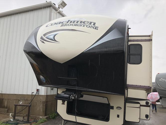 2016 FOREST RIVER BROOKSTONE 395RL TRAVEL TRAILER